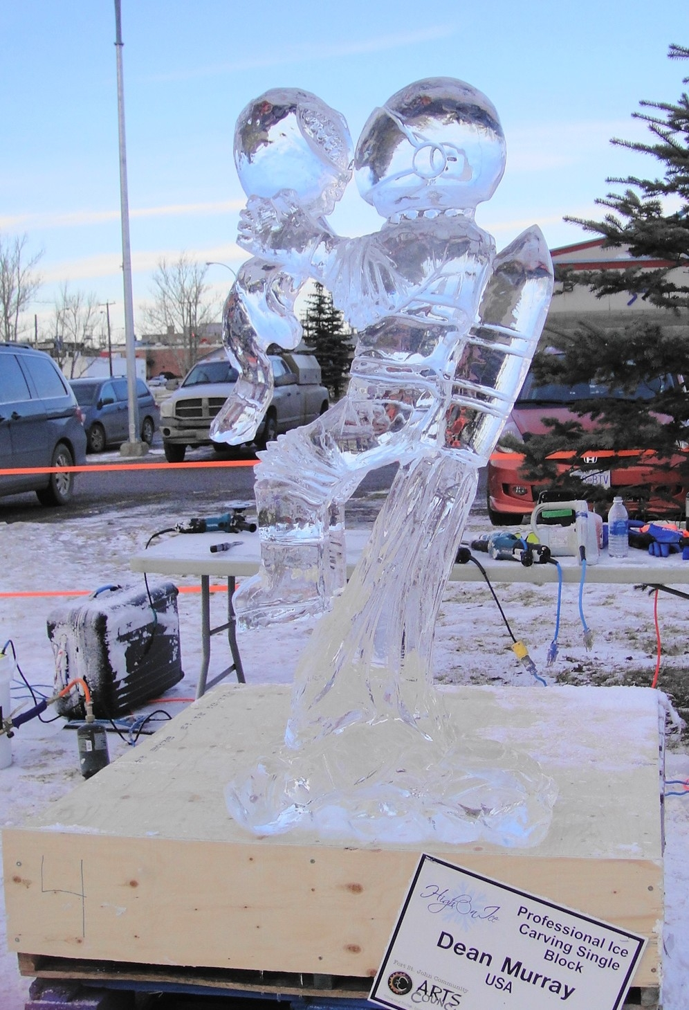 Single Block Ice Carving complete