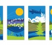 2015 Banners designed by Fort St. John Artist Alan White which also appear in the holding room at the North Peace Regional Airport.